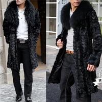 2014 imitation mink overcoat fox fur coat male