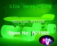 "Free shipping 22"" Complete Plastic Mini Cruiser GLOW Skateboard Hoverboard"