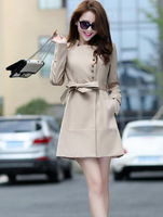 2014 new spring fashion/Casual women's Trench Coat long Outerwear loose clothes for lady good quality # LP538809