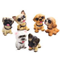 Cute Dogs (6pcs/lot) Doll Car Interior Ornaments Accessories Nodding Dogs Moving Head Dogs Car Interior Decoration Articles