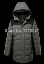 014 Direct Selling 80% Wool Limited Long Duck Down Woven Hooded Fashion Jackets Wholesale, Customization Needs More Than 300pcs(China (Mainland))