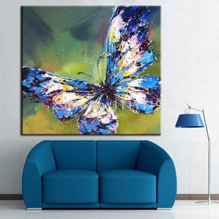 Cuadros abstractos de la mariposa compra lotes baratos - Pinturas modernas para sala ...