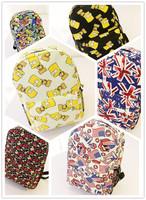 HOT! 2014 New brand Cartoon canvas waterproof backpack, kids school bags, computer bag, boys and girls Flag backpack sports bags