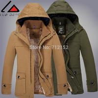 wholesale price 2014 Men warm wadded jacket male medium-long slim thick plus velvet male autumn and winter cotton-padded jacket