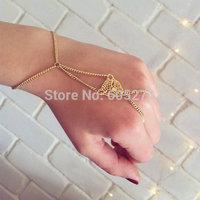 leopard head charms bracelet, finger bracelet