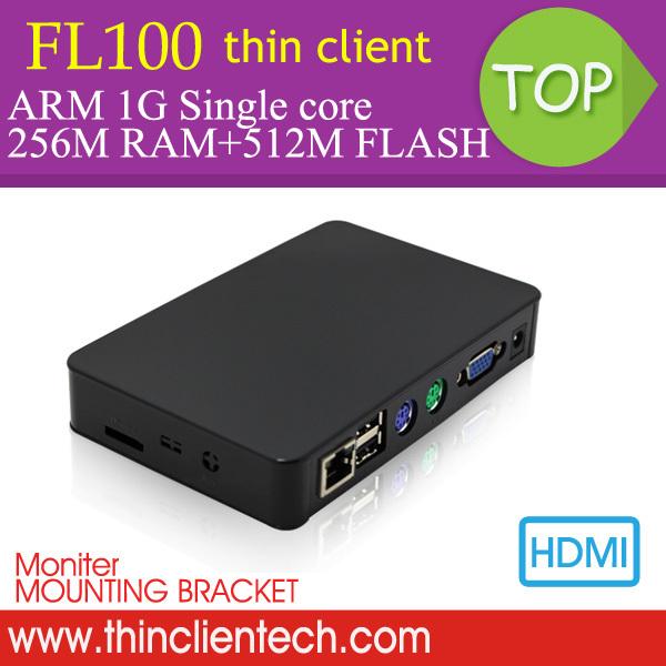 Free Shipping Latest RDP PC Thin Client FL100 Built-in Linux,MIC&SPK,HDMI,VGA,Support Windows 7/Linux Ubuntu Mini PC Station(China (Mainland))