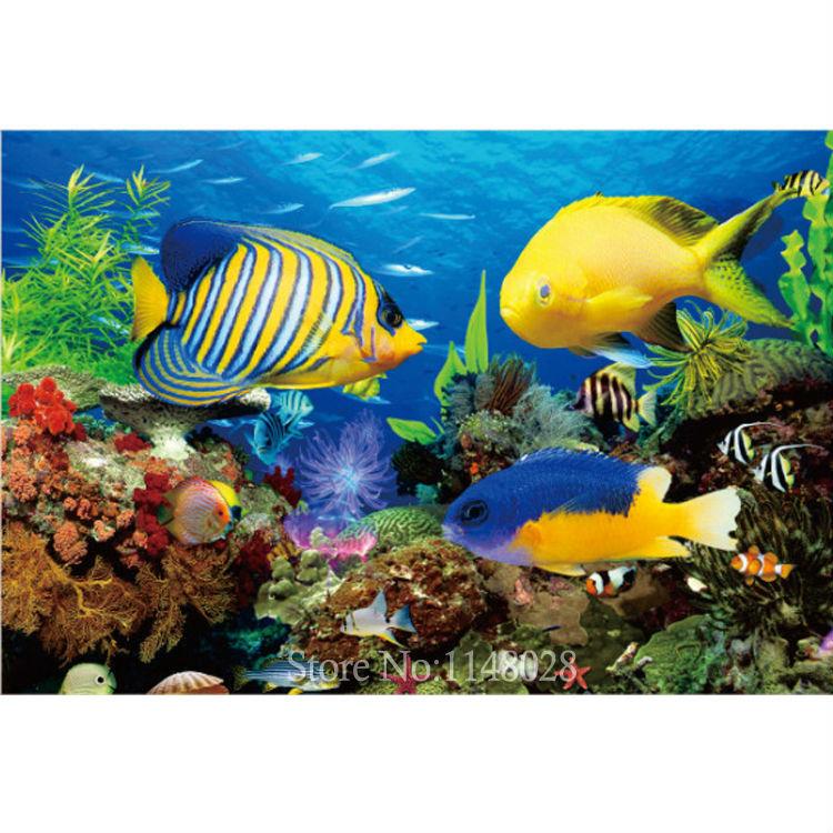 Colorful Fish Painting Painting Ocean Fish Cross
