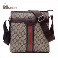 SHUBO 2014 Men Messenger Bags Fashion Casual Brand Shoulder Bag Brown Business Bags SH115