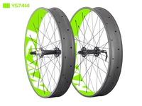 Toray T700 carbon fatbike wheels 26er fat bike wheelset Powerway M74 hubs 10/11 speed 90mm width UD-matt fat bike wheel FW90