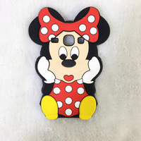 For Samsung Galaxy Core I8260 I8262 GT-I8262 8260 8262 Cute Lovely Carton Minne Silicon Back Cover Cell Phone Case Drop Shipping