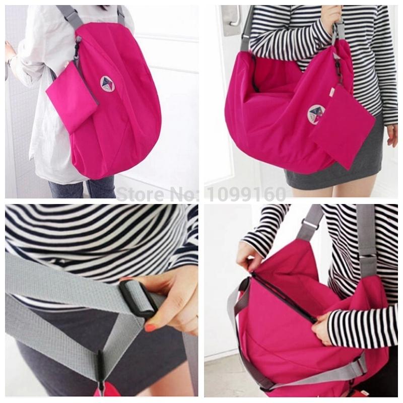 Free Shipping Creative travel bag folding environmental protection shopping bag waterproof pouch Backpack(China (Mainland))