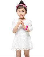 Retail 1PC 2014 Fashion Apparel Kids Party Girls Dress Children Clothing Free Shipping Girls lace princess Dress good quality