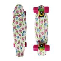 "DIY Color 22"" Printed penny skateboard Retro Cruiser old school mini longboard skate long board Complete 9#"