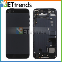 New Completed Full Metal Back Cover Housing Midframe Rear Case Assembly Replacement For iPhone 5 Black White Free Shipping