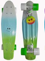 "Black Penny Style Skateboard 22"" Complete original Retro Cruiser Backpack mini longboard girl boy skate fish long board"