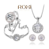 ROXI Delicate clear women jewelry sets,platinum with AAA zircons,fashion Wedding Jewelry,best Birthday gifts AN