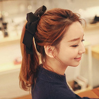 Fashion Hair Accessories Women Ribbon Bow Hair Band Scrunchie Ponytail Holder Multi Color Hair Tie Rope H6554 P