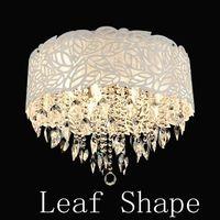 Leaf shape 220V modern crystal chandelier Lights Lamp home decoration lights Diameter 600mm type--Included 9pcs E14 led lamps