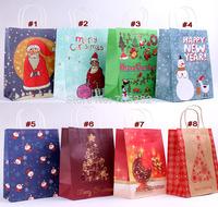 Christmas series paper gift bag with handle, 27x21x11cm, Fashionable christmas bag, Wholesale price  (tt-1359)