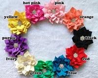 "20pcs 3"" 12 Color Rhinestone Lotus leaf For Hair Accessories Bridal Wedding Decoration Hawaii Party"