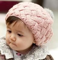 On Sale Baby Girl Boy Winter Hat Crochet Berets Bomber Hat Children Crochet Beanies Cap Solid Polyester Skullies Warm Hat