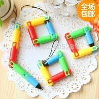 Folding ballpoint pen Cartoon ballpen Novelty Ballpen Gift for Kids Keychain Ballpen + Free Shipping by DHL/Fedex 500pcs/lot