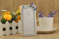 Diamond Bow Sexy Luxury Fresh DIY Back Plastic Hard Case Cover For Samsung Galaxy S4 I9500 /S5 I9600  Phone Shell Free Shipping