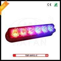 2 pcs free shipping via fedex + red/blue/white/amber TIR6 Personal Vehicle Truck Grille Deck LED Warning Strobe Light TBF-6691L3
