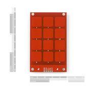 2pcs MPR121 Capacitive Touch Keypad Shield module sensitive key keyboard For arduino