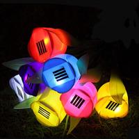 New Solar Tulip Garden Lawn Light LED decorative home landscape garden lighting Christmas light villa LED lamp free shipping