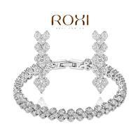 ROXI Christmas Gift Fashion Clear Crystal Fruits Set Gift Girlfriend 100% Hand made Jewelry Earrings+bracelet AN