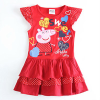 baby girl party dress pepa toddler girl clothing child peppa pig dress brand kids girl dress kids clothes roupas infantil H5415