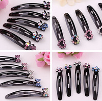 4 Pcs (2 Pairs) Rhinestone Flower Hairpins/ Hair Clips for Women Hair Accessories