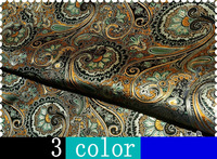 3 COLOR heavy brocade silk satin fabric  Free SHIPPING