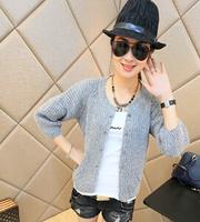 2014 New Women Fashion Sweater Coat Autumn Slim Cardigans Three Quarter Knitted Sweaters SW1098
