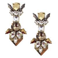 New 2014 fashion HOT high quality JC  women stud earrings earring bubble crystal vintage korean Earrings for women jewelry