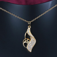 2014 The new special design gold and silver two color to choice personality mix and match 18K Gold plated necklaces ALW1699