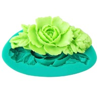 Free Shipping 3D DIY Flower Fondant Cake Chocolate Sugar Craft Mold Silicone Tools # ZH164