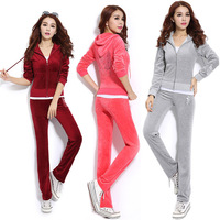 Hot Sale 2014 Women's Tracksuits Fashion Embroidery Hoodies And Long Pants Twinsets Autumn Sweatshirt With Long Pants Sportwear