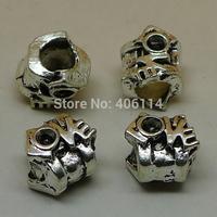 12 Pcs Antique Silver LOVE Beads Big Hole 11x9.5x9mm For European Bracelets DIY A3543