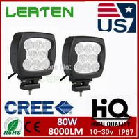 1X 80W LED CREE WORK LIGHT SPOT OFFROAD 4WD TRUCK  LAMP LED CAR  DAYTIME RUNNING LIGHT