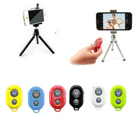 Wireless Bluetooth Remote Shutter+extend silver tripod+usual phone holder  for iPhone Samsung Galaxy Smart Phones