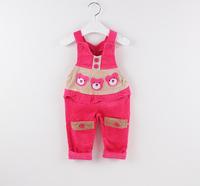 NEW winter fashion retail 3 colors NEW baby corduroy overalls Children overalls suspender Cartoon Baby Shoulder strap