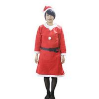 2014 New Hot Santa Claus Costume & Clothes female three pieces one set