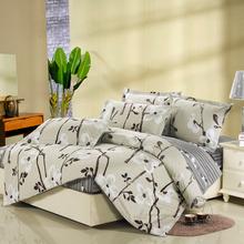 Four piece bedding set 100% cotton duvet cover piece set fitted cotton 4 100%(China (Mainland))