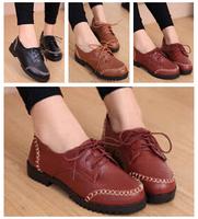 2014 Spring Roman Vintage lace women shoes non-slip comfort woman Single harajuku women's leather ballet flats shoes X286