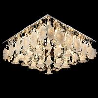 220V Modern Crystal Chandelier Home Lighting lustres de cristal Decoration Chandeliers Square Shape 800mm diameter
