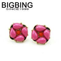 BigBing Fashion pink Earrings stud Earrings fashion earring fashion jewelry nickel free Free shipping! WE349