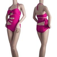 Sexy Hot Cut Out Side Push Up Padded Swimsuit Bikini Swimwea