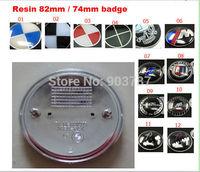 20pcs resin 82mm / 74mm /// M tech emblem front  bonnet / rear boot trunk badge for E30 E36 E46 3 5 7 SERIES M3 M5 X3 X5